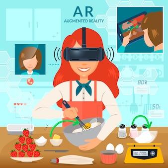 Дополненную реальность можно использовать в кулинарии