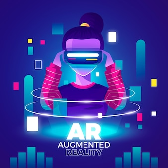 Augmented reality concept illustration
