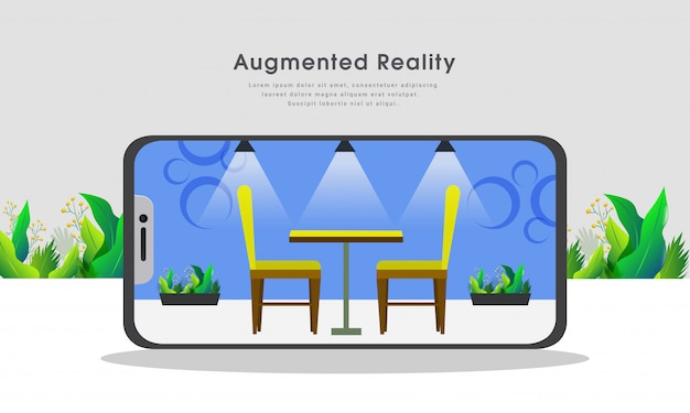 Augmented reality concept.