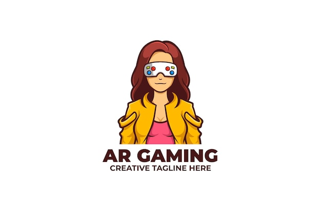 Augmented reality game mascot logo
