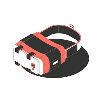 Augmented reality glasses for smartphone isometric icon 3d