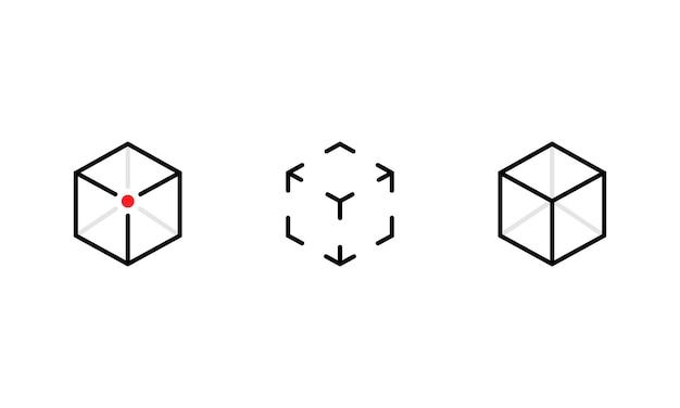 Augmented reality icon set. concept ar symbol