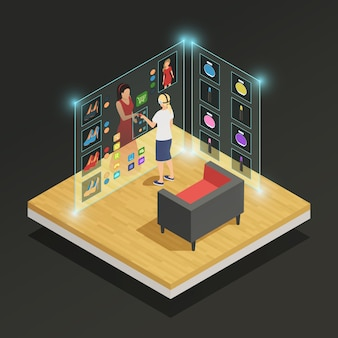Augmented reality isometric composition