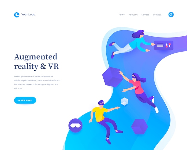 Augmented reality web template