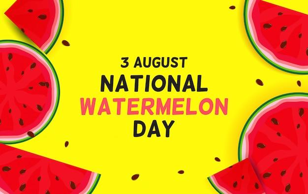 August, 3 watermelon day background,