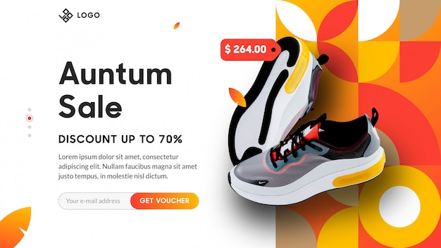 Auntumn landing page for e-commerce