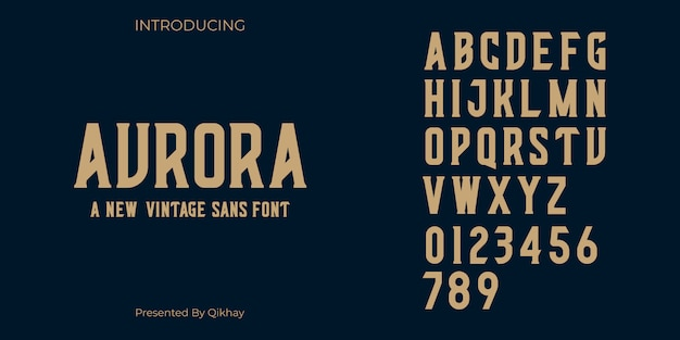 Aurora vintageフォント
