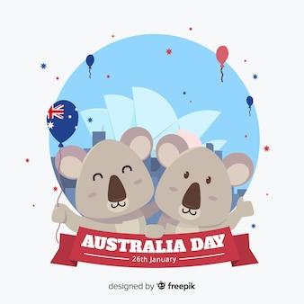 Australia day background with koala