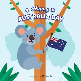 Australia day background with koala