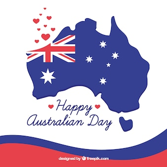 Australia day background with map