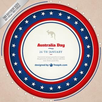 オーストラリア日のバッジの背景