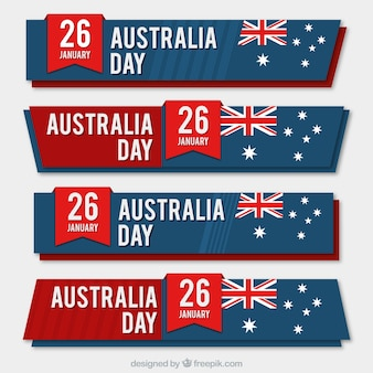 Australia day banner collection