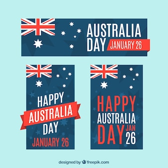 Australia day banners collection