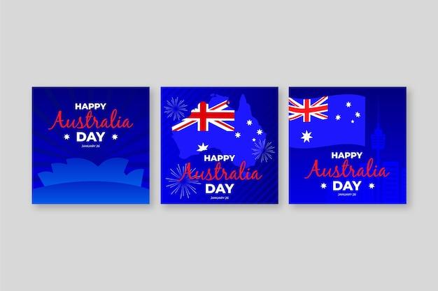 Biglietti di auguri per la celebrazione del giorno dell'australia