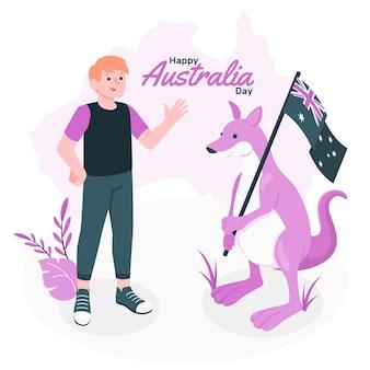 Australia dayconcept illustration