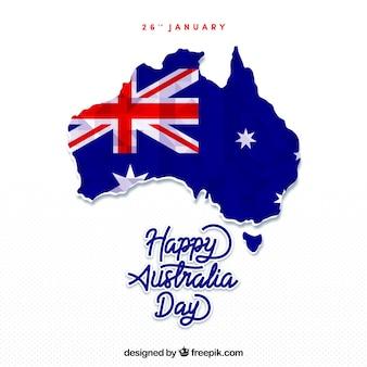 Australia day design con mappa