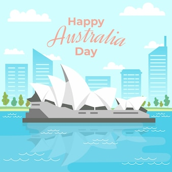 Australia day event illustration