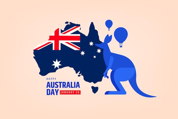 Australia day event with map
