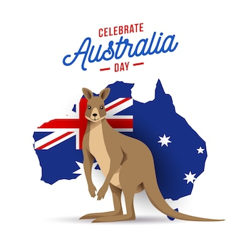 Australia day flat design illustration