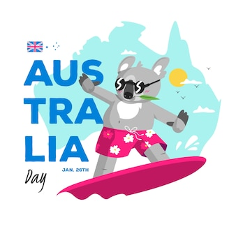 Australia day in flat design