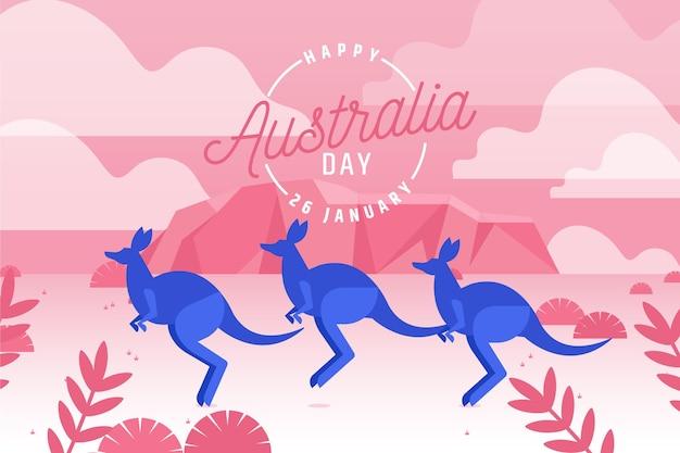 オーストラリアの日フラットイラスト