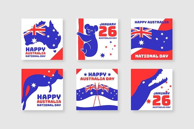 Коллекция поздравительных открыток ко дню австралии
