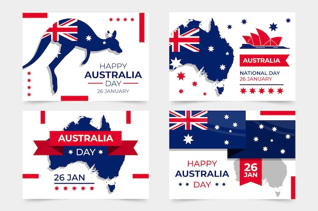Australia day greeting cards collection