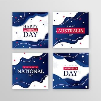 호주의 날 인사말 카드