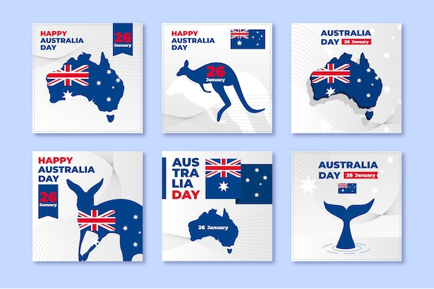 Australia day greeting cards