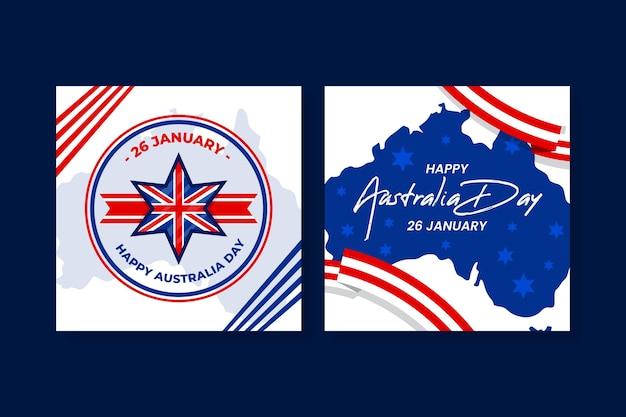 Cartoline d'auguri di giorno dell'australia