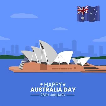 Design piatto illustrazione giorno australia