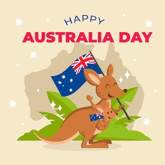 День австралии в плоском дизайне