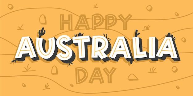 Australia day lettering