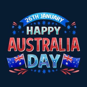 オーストラリアの日-レタリング