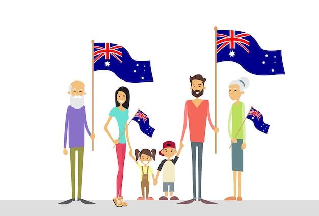 Australia day national flag