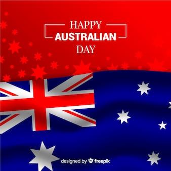 Australia day in realistic design