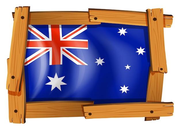Флаг австралии в деревянной рамке