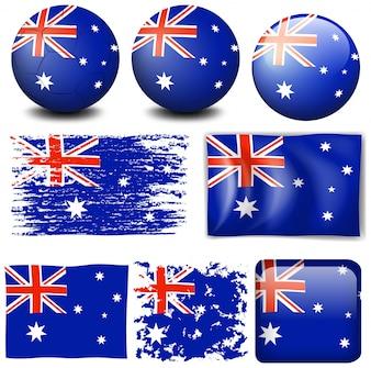 Australia flag on different item illustration