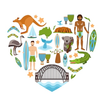 Australia heart shape