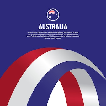 Australia independence day vector template design illustration