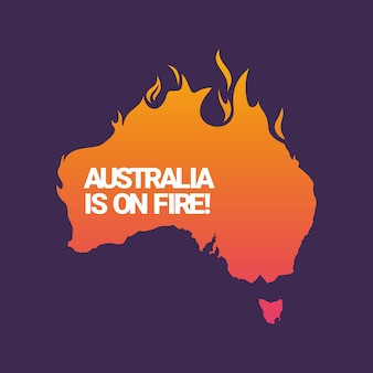 Australia is on fire illustration