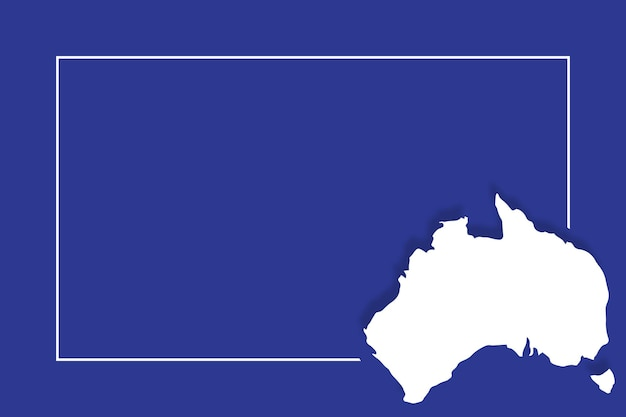 Australia map with vector background template