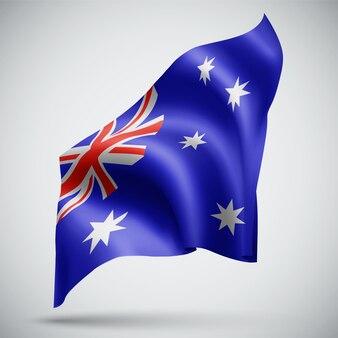 Australia,  vector 3d flag isolated on white background