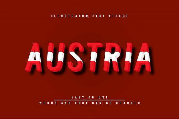 Austria editable text effect Premium Vector