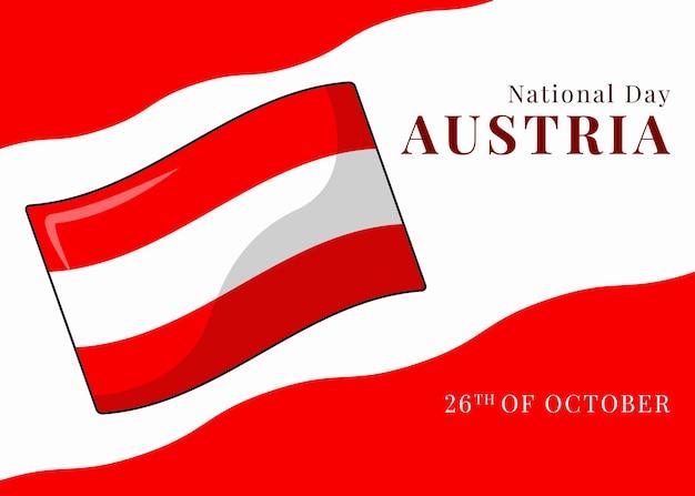 国民の日のオーストリアの旗の背景イラスト
