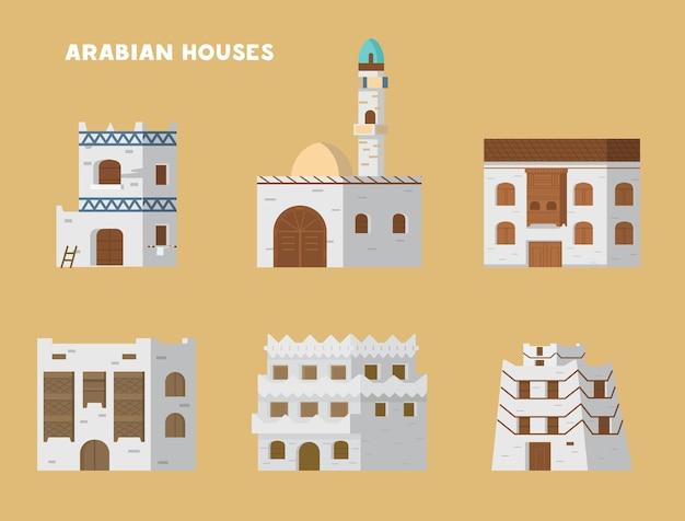 Аутентичные древние арабские дома