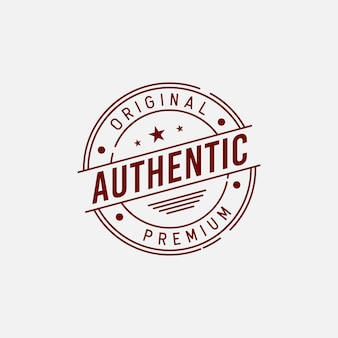 Authentic badge label design concept