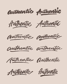 Authentic hand lettering