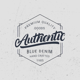 Authentic hand written lettering.