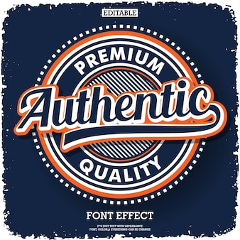 Authentic logo type for product or service company